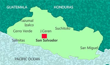 El Salvador on map of san pedro de macoris, map of san cristobal de las casas, map of asunción, map of honduras, map of pereira, map of central america, map of ilhabela, map of campinas, map of south of the border, map of ciudad del este, map of isla margarita, map of regions of brazil, map of san pedro de atacama, map of culiacan, map of san pedro la laguna, map of sunset boulevard, map of guatemala, map of bissau, map of la serena, map of antarctic sound,